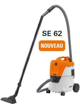 mat riel neuf aspirateur stihl se62e espace motoculture du tertre. Black Bedroom Furniture Sets. Home Design Ideas